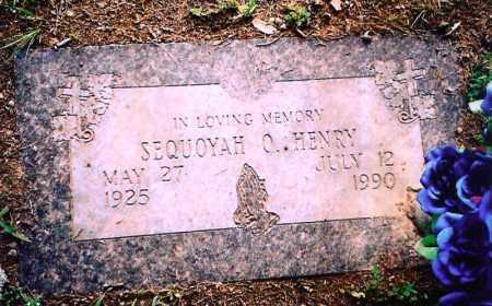 HENRY, SEQUOYAH O. - Benton County, Arkansas | SEQUOYAH O. HENRY - Arkansas Gravestone Photos