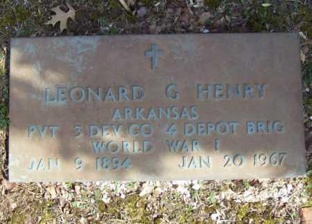HENRY (VETERAN WWI), LEONARD G - Benton County, Arkansas | LEONARD G HENRY (VETERAN WWI) - Arkansas Gravestone Photos