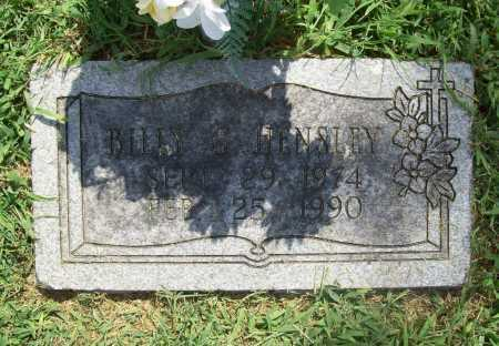 HENSLEY, BILLY G. - Benton County, Arkansas | BILLY G. HENSLEY - Arkansas Gravestone Photos