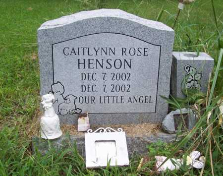 HENSON, CAITLYNN ROSE - Benton County, Arkansas | CAITLYNN ROSE HENSON - Arkansas Gravestone Photos