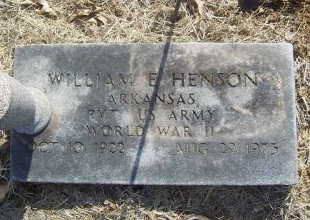 HENSON (VETERAN WWII), WILLIAM E - Benton County, Arkansas | WILLIAM E HENSON (VETERAN WWII) - Arkansas Gravestone Photos