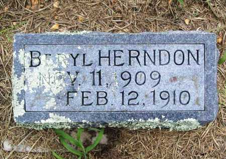 HERNDON, BERYL - Benton County, Arkansas | BERYL HERNDON - Arkansas Gravestone Photos