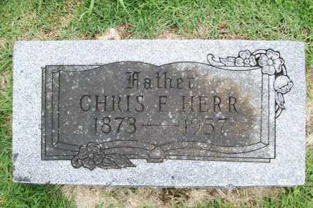 HERR, CHRIS F. - Benton County, Arkansas | CHRIS F. HERR - Arkansas Gravestone Photos