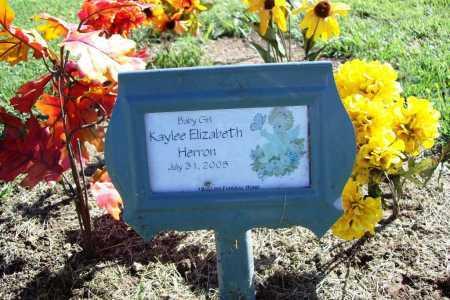 HERRON, KAYLEE ELIZABETH - Benton County, Arkansas | KAYLEE ELIZABETH HERRON - Arkansas Gravestone Photos