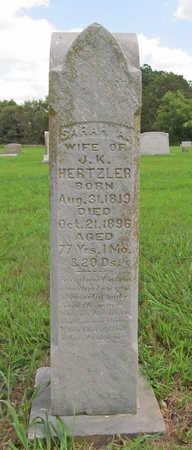 HERTZLER, SARAH A - Benton County, Arkansas | SARAH A HERTZLER - Arkansas Gravestone Photos