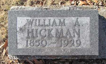 HICKMAN, WILLIAM A. - Benton County, Arkansas | WILLIAM A. HICKMAN - Arkansas Gravestone Photos