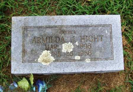 HIGHT, ARMILDA J. - Benton County, Arkansas | ARMILDA J. HIGHT - Arkansas Gravestone Photos