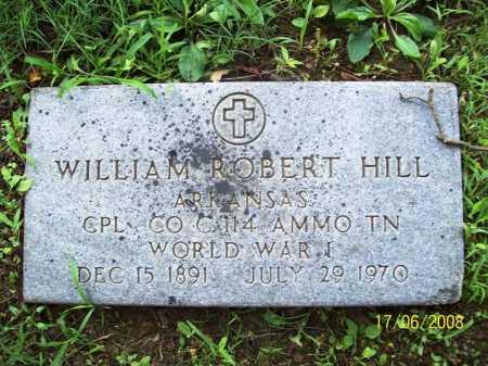 HILL (VETERAN WWI), WILLIAM ROBERT - Benton County, Arkansas | WILLIAM ROBERT HILL (VETERAN WWI) - Arkansas Gravestone Photos