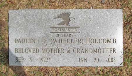 WHEELER HOLCOMB, PAULINE E - Benton County, Arkansas | PAULINE E WHEELER HOLCOMB - Arkansas Gravestone Photos