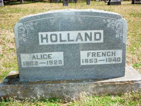 HOLLAND, ALICE - Benton County, Arkansas | ALICE HOLLAND - Arkansas Gravestone Photos