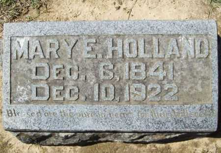 HOLLAND, MARY E. - Benton County, Arkansas | MARY E. HOLLAND - Arkansas Gravestone Photos