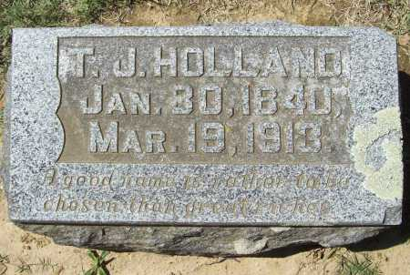 HOLLAND, T. J. - Benton County, Arkansas | T. J. HOLLAND - Arkansas Gravestone Photos