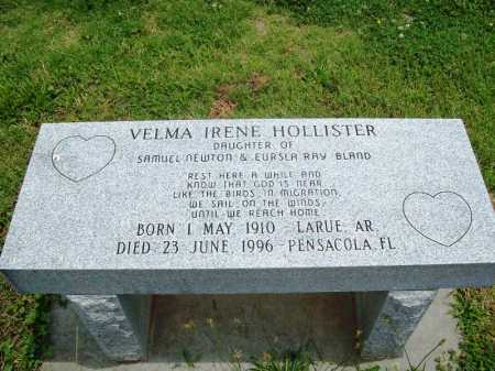 HOLLISTER, VELMA IRENE - Benton County, Arkansas | VELMA IRENE HOLLISTER - Arkansas Gravestone Photos