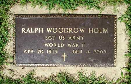 HOLM (VETERAN WWII), RALPH WOODROW - Benton County, Arkansas | RALPH WOODROW HOLM (VETERAN WWII) - Arkansas Gravestone Photos