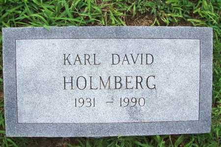 HOLMBERG, KARL DAVID - Benton County, Arkansas | KARL DAVID HOLMBERG - Arkansas Gravestone Photos