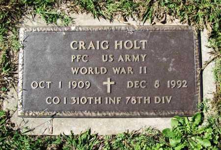 HOLT (VETERAN WWII), CRAIG - Benton County, Arkansas | CRAIG HOLT (VETERAN WWII) - Arkansas Gravestone Photos