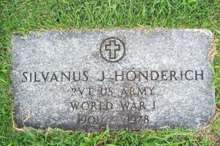 HONDERICH (VETERAN WWI), SILVANUS J - Benton County, Arkansas | SILVANUS J HONDERICH (VETERAN WWI) - Arkansas Gravestone Photos
