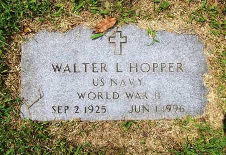 HOPPER (VETERAN WWII), WALTER LENNIS - Benton County, Arkansas | WALTER LENNIS HOPPER (VETERAN WWII) - Arkansas Gravestone Photos