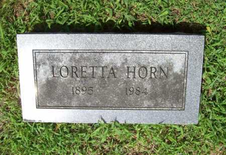 HORN, LORETTA - Benton County, Arkansas | LORETTA HORN - Arkansas Gravestone Photos