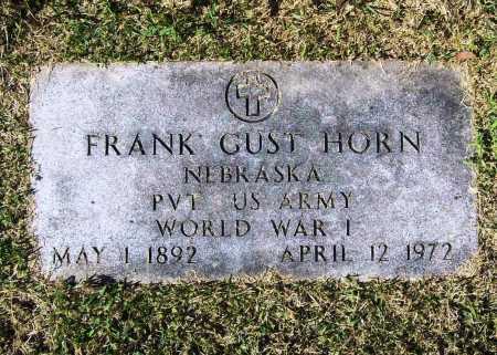 HORN (VETERAN WWI), FRANK GUST - Benton County, Arkansas | FRANK GUST HORN (VETERAN WWI) - Arkansas Gravestone Photos