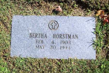 HORSTMAN, BERTHA - Benton County, Arkansas | BERTHA HORSTMAN - Arkansas Gravestone Photos