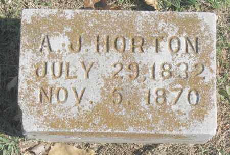 HORTON, A. J. - Benton County, Arkansas | A. J. HORTON - Arkansas Gravestone Photos
