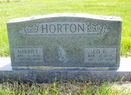 HORTON, ED E. - Benton County, Arkansas | ED E. HORTON - Arkansas Gravestone Photos