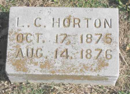 HORTON, L. C. - Benton County, Arkansas | L. C. HORTON - Arkansas Gravestone Photos