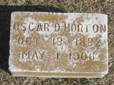 HORTON, OSCAR D. - Benton County, Arkansas | OSCAR D. HORTON - Arkansas Gravestone Photos