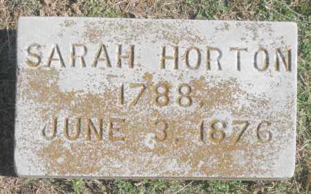 HORTON, SARAH - Benton County, Arkansas | SARAH HORTON - Arkansas Gravestone Photos