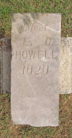 HOWELL, E D - Benton County, Arkansas | E D HOWELL - Arkansas Gravestone Photos