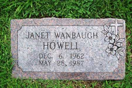 WANBAUGH HOWELL, JANET - Benton County, Arkansas | JANET WANBAUGH HOWELL - Arkansas Gravestone Photos