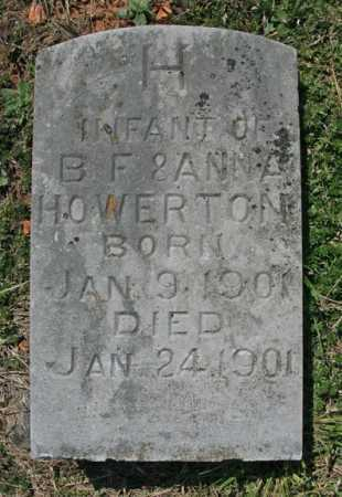 HOWERTON, INFANT - Benton County, Arkansas | INFANT HOWERTON - Arkansas Gravestone Photos