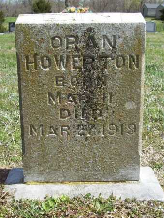 HOWERTON, ORAN - Benton County, Arkansas | ORAN HOWERTON - Arkansas Gravestone Photos
