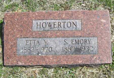 HOWERTON, S. EMORY - Benton County, Arkansas | S. EMORY HOWERTON - Arkansas Gravestone Photos