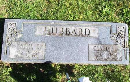 HUBBARD, CLAUDE E. - Benton County, Arkansas | CLAUDE E. HUBBARD - Arkansas Gravestone Photos