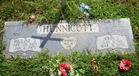 HUNNICUTT, JOHN C. - Benton County, Arkansas | JOHN C. HUNNICUTT - Arkansas Gravestone Photos