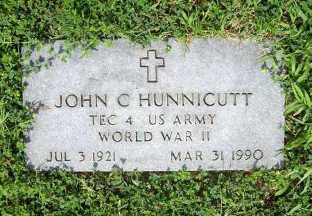 HUNNICUTT (VETERAN WWII), JOHN C. - Benton County, Arkansas | JOHN C. HUNNICUTT (VETERAN WWII) - Arkansas Gravestone Photos