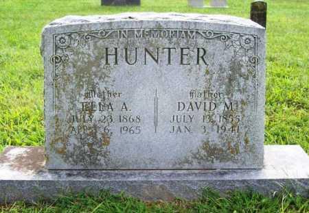 HUNTER, DAVID M. - Benton County, Arkansas | DAVID M. HUNTER - Arkansas Gravestone Photos