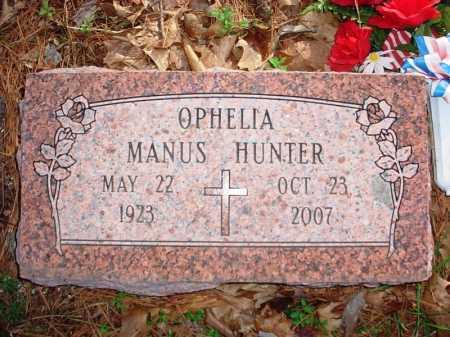 MANUS HUNTER, OPHELIA - Benton County, Arkansas | OPHELIA MANUS HUNTER - Arkansas Gravestone Photos