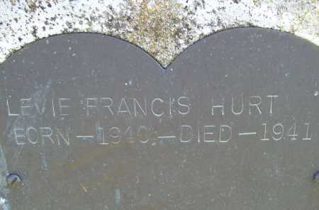 HURT, LEVIE FRANCIS (CLOSEUP) - Benton County, Arkansas | LEVIE FRANCIS (CLOSEUP) HURT - Arkansas Gravestone Photos