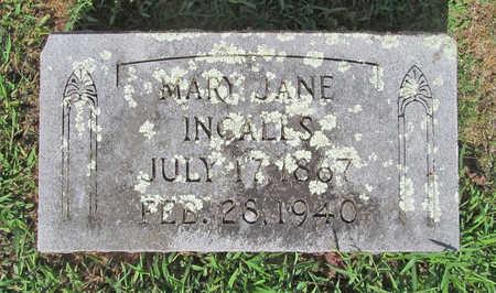 INGALLS, MARY JANE - Benton County, Arkansas | MARY JANE INGALLS - Arkansas Gravestone Photos