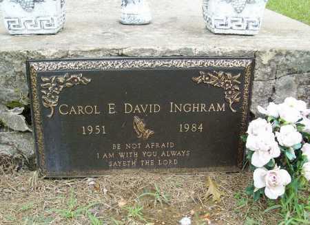 DAVID INGHRAM, CAROL E. - Benton County, Arkansas | CAROL E. DAVID INGHRAM - Arkansas Gravestone Photos