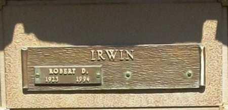 IRWIN, ROBERT D. - Benton County, Arkansas   ROBERT D. IRWIN - Arkansas Gravestone Photos