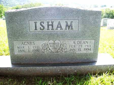 ISHAM, AGNES - Benton County, Arkansas | AGNES ISHAM - Arkansas Gravestone Photos
