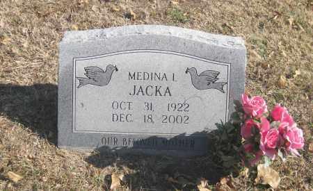 JACKA, MEDINA I. - Benton County, Arkansas | MEDINA I. JACKA - Arkansas Gravestone Photos