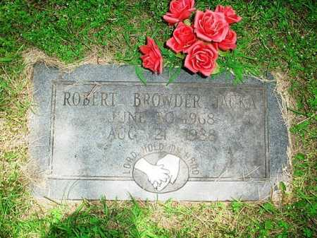 JACKA, ROBERT BROWDER - Benton County, Arkansas | ROBERT BROWDER JACKA - Arkansas Gravestone Photos