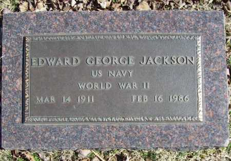 JACKSON (VETERAN WWII), EDWARD GEORGE - Benton County, Arkansas | EDWARD GEORGE JACKSON (VETERAN WWII) - Arkansas Gravestone Photos
