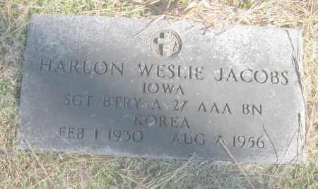 JACOBS (VETERAN KOR), HARLON WESLIE - Benton County, Arkansas | HARLON WESLIE JACOBS (VETERAN KOR) - Arkansas Gravestone Photos