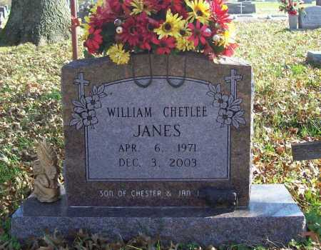 JANES, WILLIAM CHETLEE - Benton County, Arkansas | WILLIAM CHETLEE JANES - Arkansas Gravestone Photos